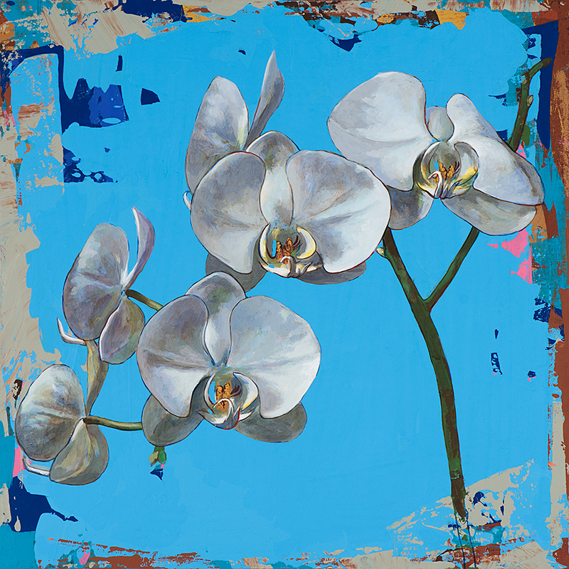 Flowers 15, painting by Los Angeles artist David Palmer, acrylic on canvas, art