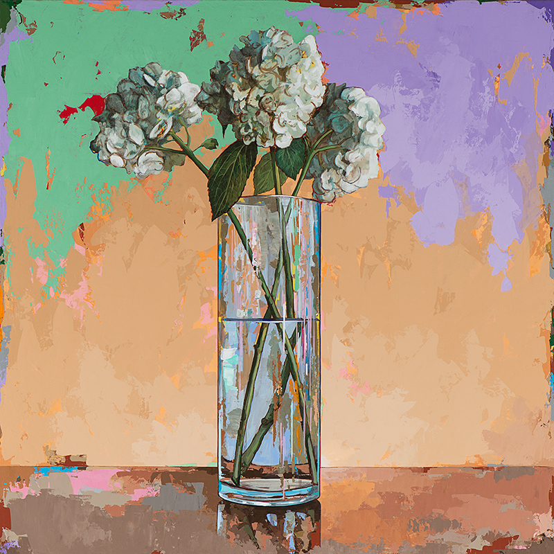 Flowers 20, painting by Los Angeles artist David Palmer, acrylic on canvas, art