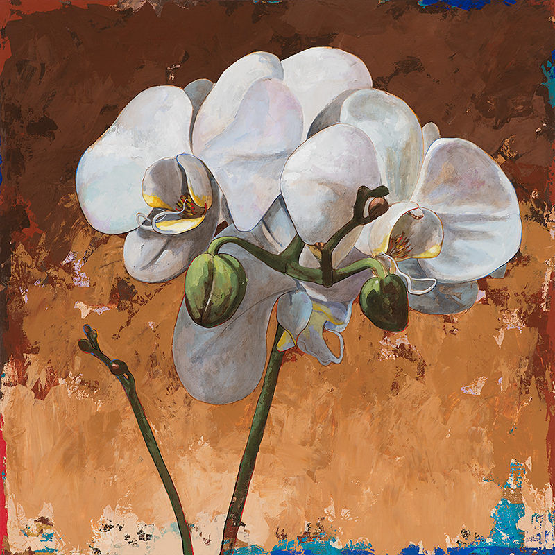 Flowers 7, painting by Los Angeles artist David Palmer, acrylic on canvas, art