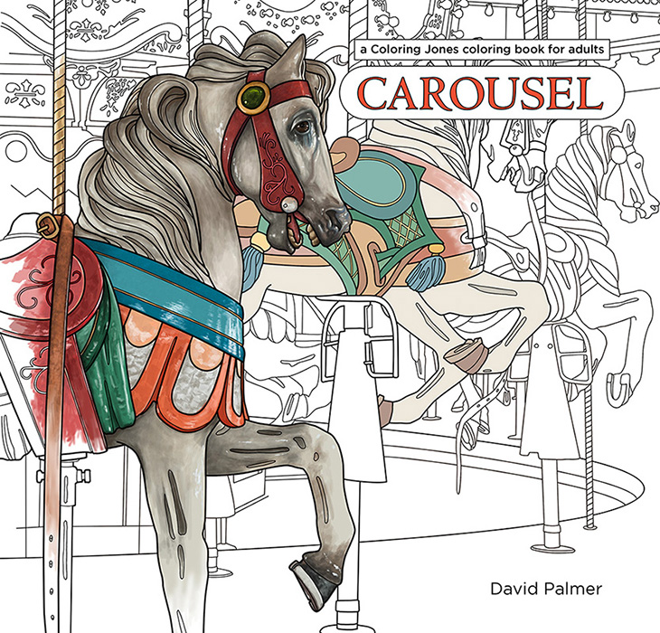 carousel a coloring jones coloring book for adults